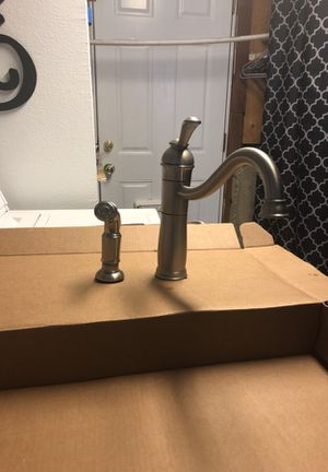 Brushed nickel kitchen faucet with sprayer for Sale in Salt Lake City, UT
