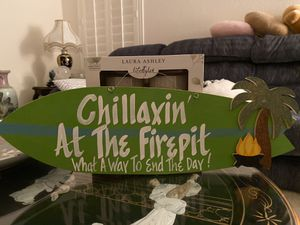 Firepit Tropical Surfboard Sign for Sale in Glendale, AZ
