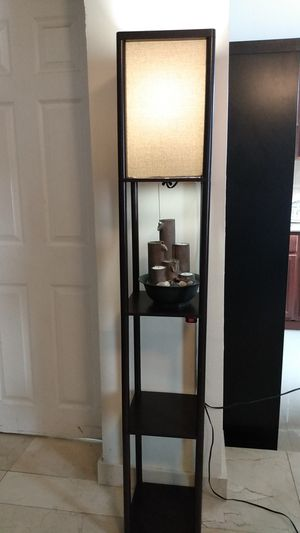 Shelf floor lamp with water fountain. for Sale in North Miami Beach, FL
