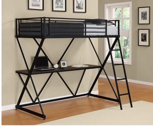 Bunk Bed Space Saver with Desk and Mattress Included!! for Sale in San Francisco, CA