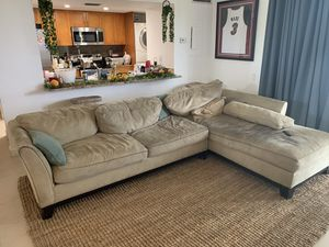 Microfiber Sectional Couch for Sale in Miami, FL
