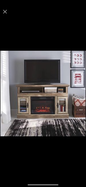 "new Crossmill Fireplace Media Console for TVs up to 60"", Weathered Finish for Sale in Chicago, IL"