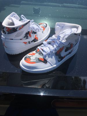Custom camo Jordan 1 for Sale in Fort Worth, TX
