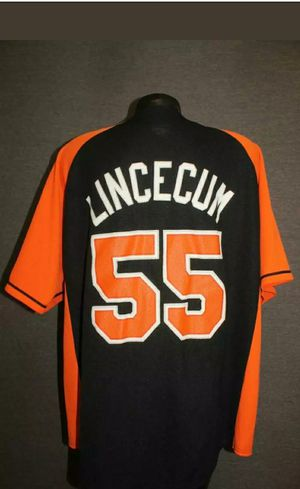 Authentic San Francisco Giants Mens Large MLB Baseball jersey # 55 Tim Lincecum for Sale in Columbus, OH