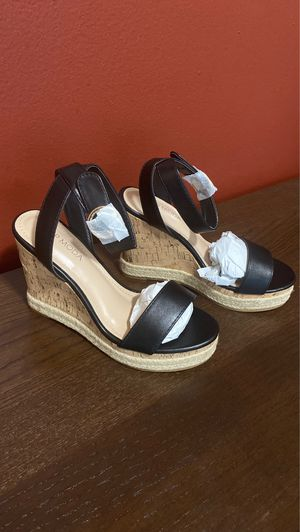 Brand NEW in box FASHION NOVA Black Wedges Size 5.5 for Sale in Fort Washington, MD