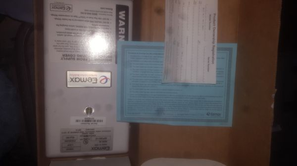 Eemax single point tankless water heater
