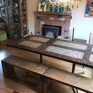 Table - Reclaimed Wood Door/Copper Tile for Sale in Vancouver, WA