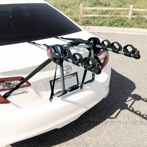 New in box heavy duty 3 Bicycle Trunk Rack Cantilever 300 Bike Carrier Trunk or Rear Hatch Mount for Sale in Whittier, CA