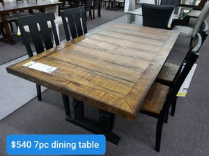 SEVEN PIECE DINING TABLE for Sale in Running Springs, CA