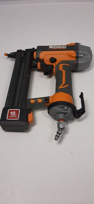 Ridgid 18g crown style brad 2 1/8 nail gun for Sale in Lakeland, FL