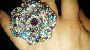 Large multicolored flower Stretchy ring for Sale in Killeen, TX