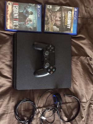 PS4 / 2 Games / Headset for Sale in Presque Isle, ME