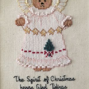 Hand Made Cross Stitch Christmas Bears for Sale in Bellflower, CA