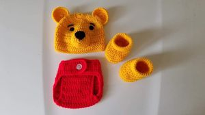 Crochet Baby Boy Winnie the Pooh Outfit Newborn for Sale in Lyons, GA