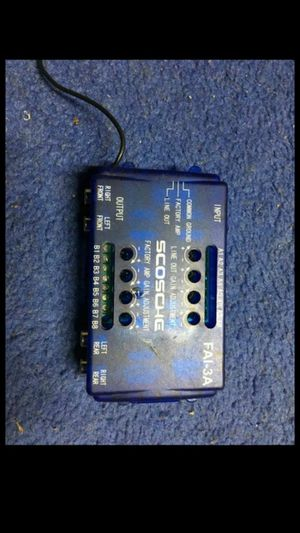 Scosche 4ch Line Output Converter and OEM Amplifier Adapter for Sale in Indianapolis, IN