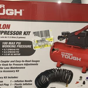 Hyper to have 3 gallon portable oil free air compressor for Sale in Houston, TX