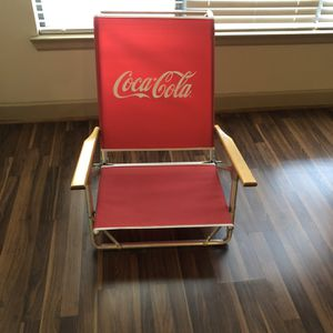 Vintage Coca Cola Foldable Beach Chair, By Telescope Casual for Sale in Houston, TX