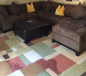 Carpet, ottoman, Cindy Crawford sofa set for Sale in Erial, NJ