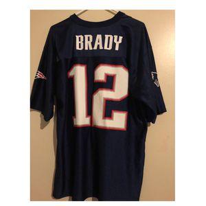 Navy blue New England Patriots Jersey NFL: Tom Brady 12, unisex size L for Sale in Smithfield, RI