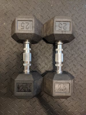 A pair of 25lb dumbbells for Sale in Frederick, MD