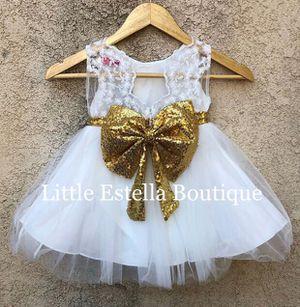 Girls White Tulle Flower girl Dress for Sale in Seattle, WA