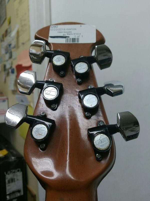 $199.99 - Rare USA Matrix Ovation 1632-4 Acoustic/Electric Aluminum Fretboard