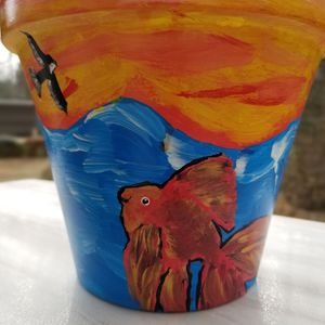 """Fancy Goldfish 8"""" Planter w/ Saucer for Sale in Clinton, MD"""