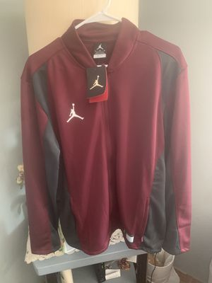 Brand New Men's Air Jordan Maroon zip up size Large for Sale in Livermore, CA