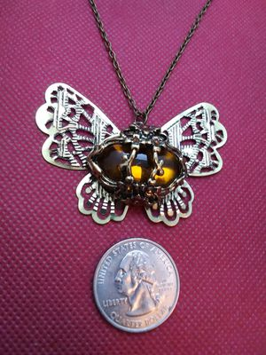 Amber Butterfly Necklace for Sale in Grove City, OH