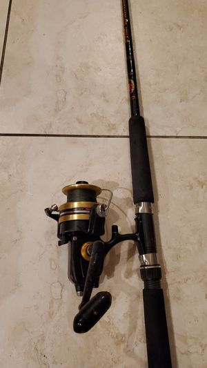 Penn 650SS Fishing Reel Spinfishier Rod Made in USA Pole for Sale in Fort Lauderdale, FL