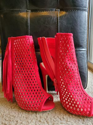 Red Just Fab Peep Toe Heel for Sale in Melbourne, FL