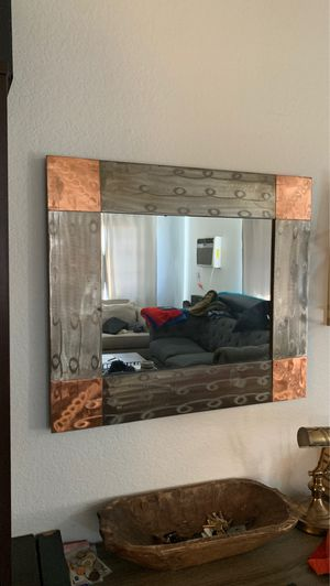Metal wall mirror for Sale in Ontario, CA