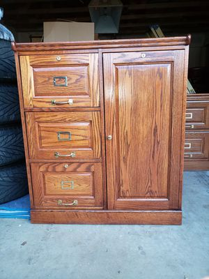 Oak File Cabinet & Storage for Sale in Rancho Cucamonga, CA