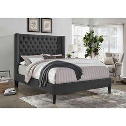 Dark Grey Linen Fabric Platform Bed Frame for Sale in Monterey Park,  CA