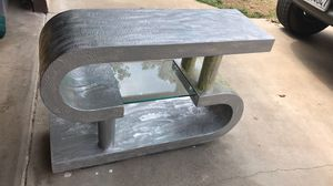 Tv / hallway entrance table/ stand with glass middle shelf for Sale in Fresno, CA