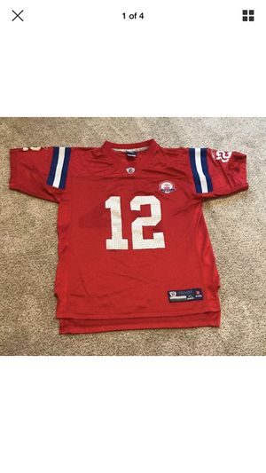 New England Patriots Tom Brady #12 Jersey Vintage Red 50th Anniversery Youth XL for Sale in Medford, MA