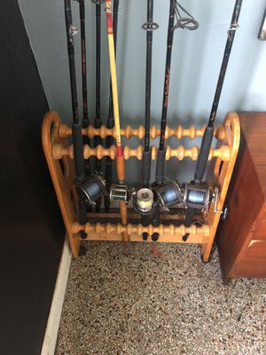 Fishing rod stand for Sale in Tampa, FL