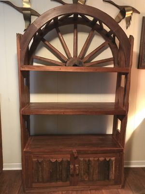 Unique Rustic Wagon Wheel Bookcase for Sale in Bryson City, NC