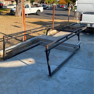 Long Bed 8ft Silverado Truck Rack And Tool Box for Sale in Fresno, CA