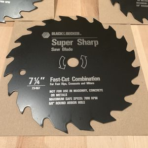 "BLACK & DECKER ""Fast Cut"" 7 1/4"" Saw Blades- Brand New for Sale in Gulf Breeze, FL"