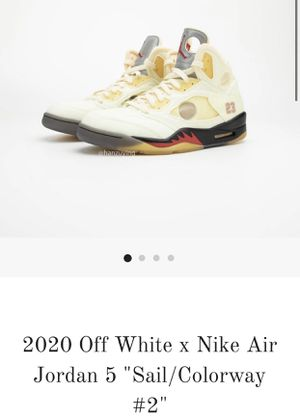 Nike Air Jordan 5 off white SAIL (PREORDER) for Sale in Simi Valley, CA