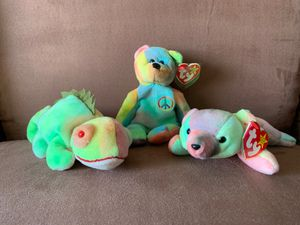 RARE TIE-DYED BEANIE BABIES (trio) for Sale in Alexandria, VA