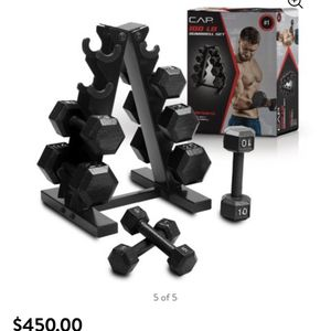 CAP 100lb Dumbbell Set With Rack for Sale in Revere, MA