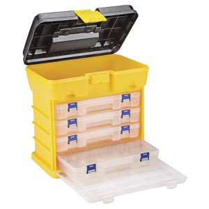 Toolbox Organizer With 4 Drawers Fishing Tackle Box Storage Container Utility Case Divider Bin for Sale in Mukilteo, WA