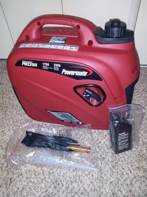 powermate inverter generator pm2200i(brand new never used) for Sale in Johnson City, NY
