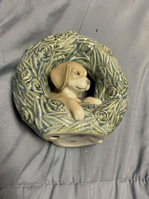 Dog wreath lladro figurine for Sale in Oakbrook Terrace, IL