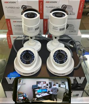 4- 1080p security cameras with install/ 4- camaras HD con instalacion..LIMITED TIME DEAL$$ for Sale in Fort Worth, TX