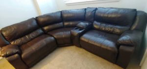 Faux Leather Sectional Recliner Sofa for Sale in Virginia Beach, VA