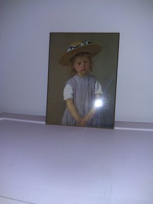 Girl in a Straw Hat Oil painting for Sale in Northglenn, CO