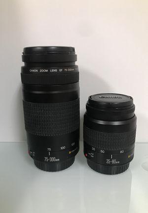 CANON LENSES 35-80mm/ 75-300 mm for Sale in Las Vegas, NV